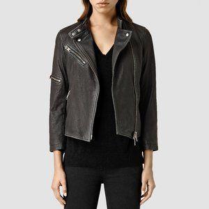 All Saints Mast Biker Jacket - Black 100% Leather